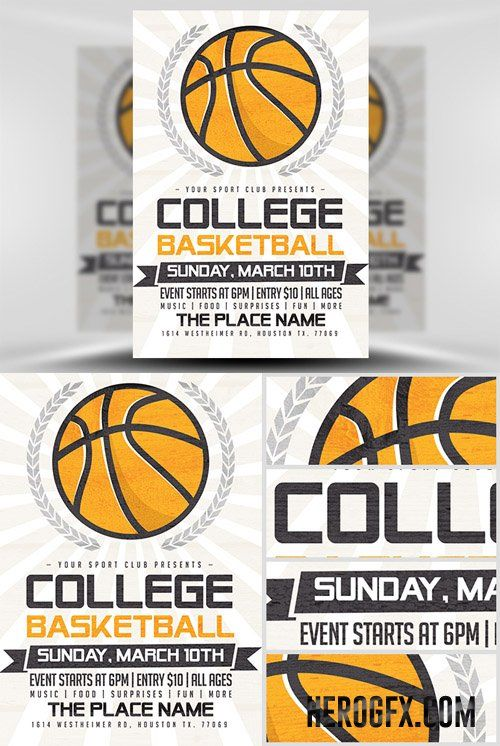 8 best sports postcards posters brochures images on pinterest basketball flyer example 15 best basketball flyer template psd for tournament camp and fandeluxe Gallery