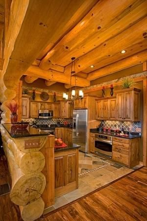 Sweet Rustic Cabin Kitchen Just The Right Size Make