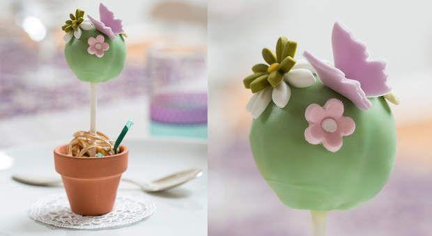 Des cake pop de printempsEn guise de déco table, ou pour un cadeau d ...