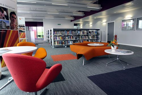 Informal seating. Low so that you can see across the room- appropriate for welcome events where there might be barracuda poster stands? @Teeside University Library