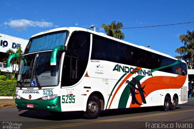 Ônibus da empresa Empresa de Transportes Andorinha, carro 5295, carroceria Marcopolo Paradiso G6 1350, chassi Mercedes-Benz O-500RSD. Foto na cidade de Assis-SP por Francisco Ivano, publicada em 06/05/2012 21:00:07.
