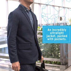 $148.50 - Men's Lightweight Multi-Pocket Travel Blazer