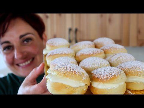 BRIOCHE NUVOLE RIPIENE - Ricetta Facile Fiocchi di Neve - Snowflakes or Clouds Brioche Easy Recipe - YouTube