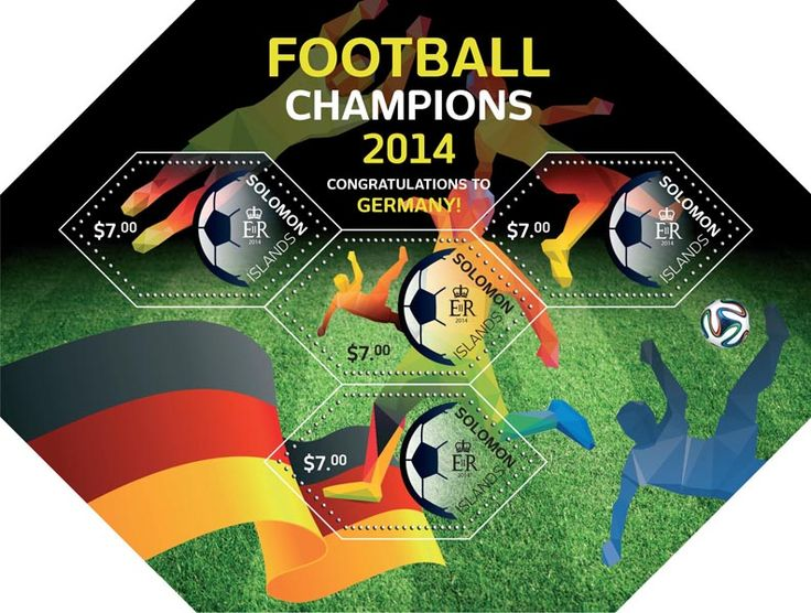 Post stamp Solomon Islands SLM 14504 a	Football champions