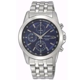 Seiko Stainless Steel Blue Dial Chronograph Mens Watch, Amazon Gold Box Deal through 2/26/2012, (list price: $250) Deal Price: $94.99.