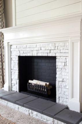 51 modern rustic painted brick fireplaces ideas fireplaces ideas rh pinterest com