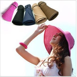 >> Click to Buy << 2017 New Fashion Women Lady Foldable Roll Up Sun Beach Wide Brim Straw Visor Hat Cap Free Shipping #Affiliate
