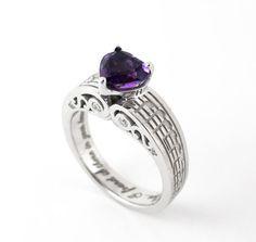 Custom Music Note Engagement Ring  por Ricksonjewellery en Etsy