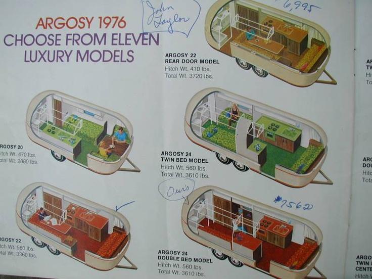 1976 airstream argosy catalogue airstream renovation for 1976 airstream floor plans