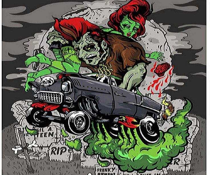 Group of Psychobilly Wallpaper
