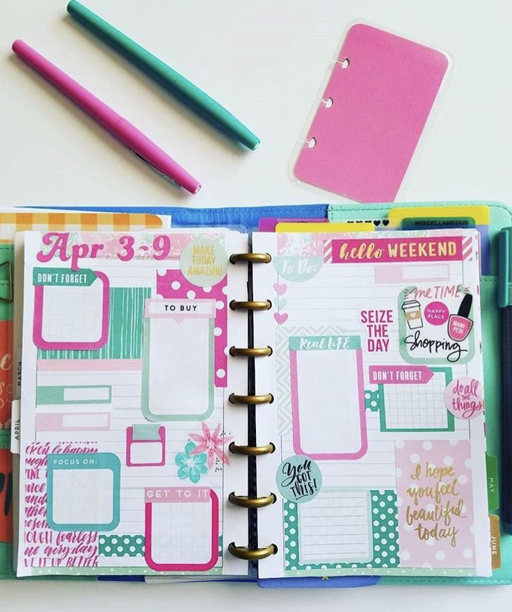 MINI Happy Planner page layout