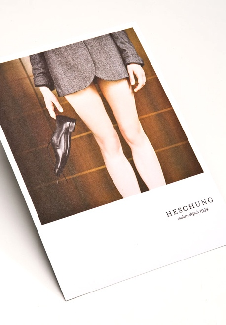 print campaign for Heschung shoes