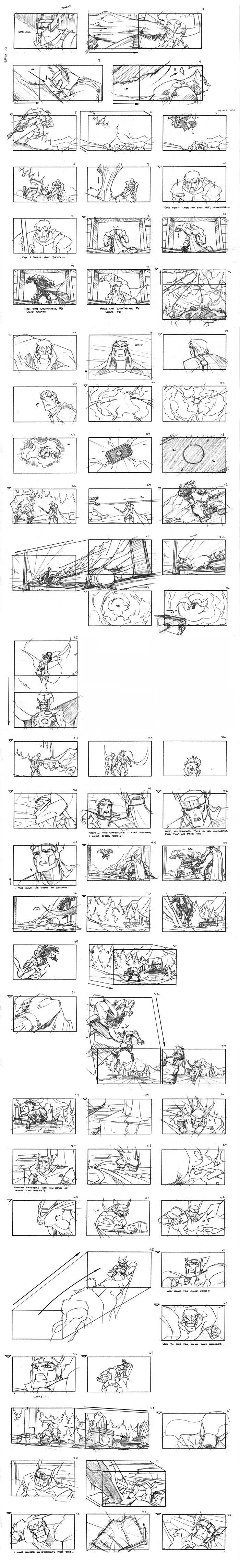Thor Storyboard Pt. 1 by samliu on deviantART