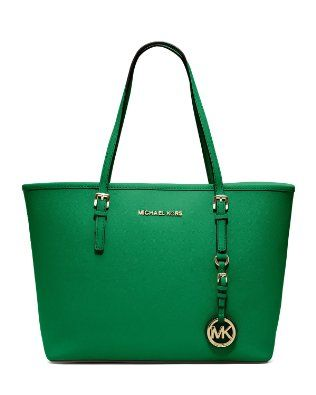 Michael Kors Jet Set Travel Tote in Palm (Green), $348 via Amazon.
