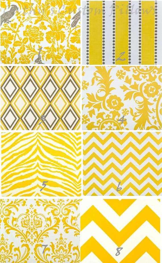 YELLOW CHEVRON CURTAINS Premier Fabric Collection Two Drapery Panels 50 x 84 Corn Diamonds Elephant Geometric