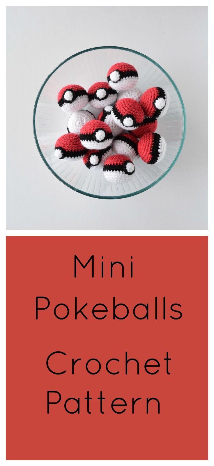 Mini Pokeballs- Free Crochet Pattern