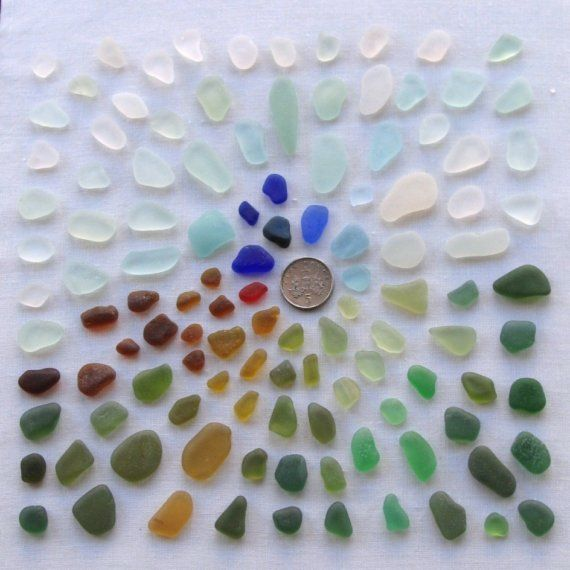 116 English Sea Glass Mosaic and Craft Supplies (347)