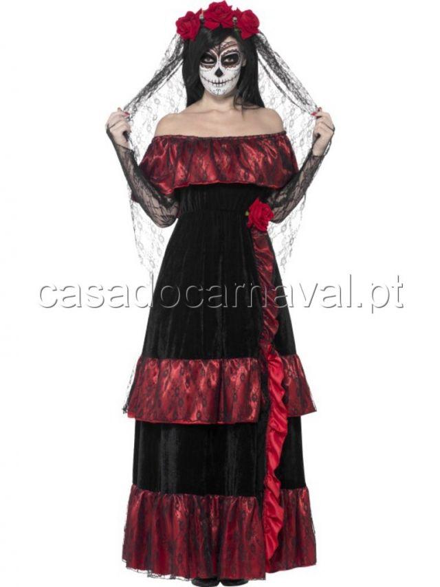 Fato de Noiva Dia dos Mortos - Carnaval - Catalogo   A Casa do Carnaval - Almeida & Oliveira - Carnaval   Halloween