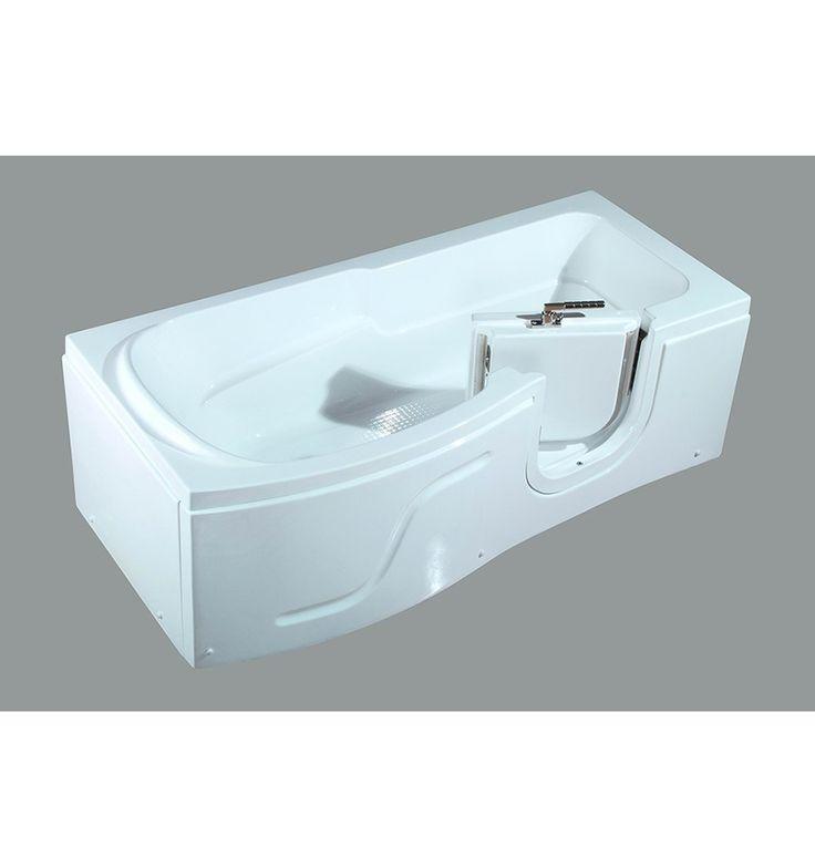 Baignoire à porte SAMAR, 170 * 80 * 62 cm pour personnes à mobilité reduite - baignoire design - mobilier salle de bain
