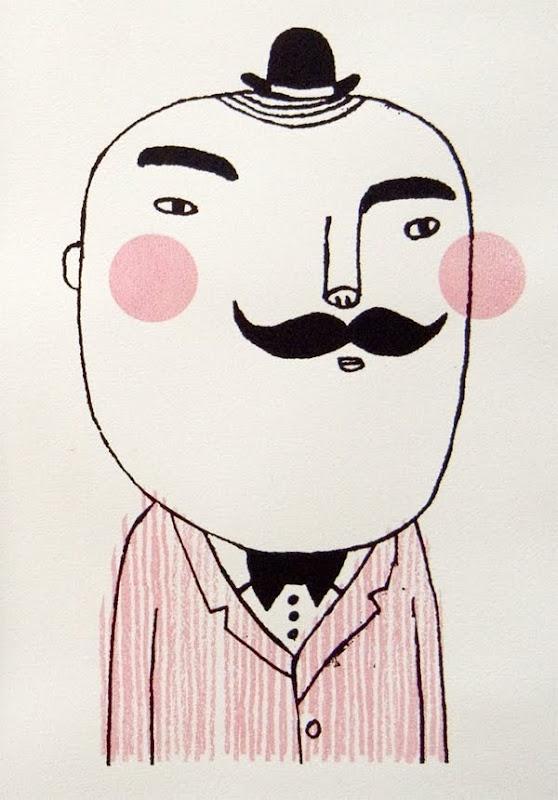 Studio Violet: Mr Mustache. #art