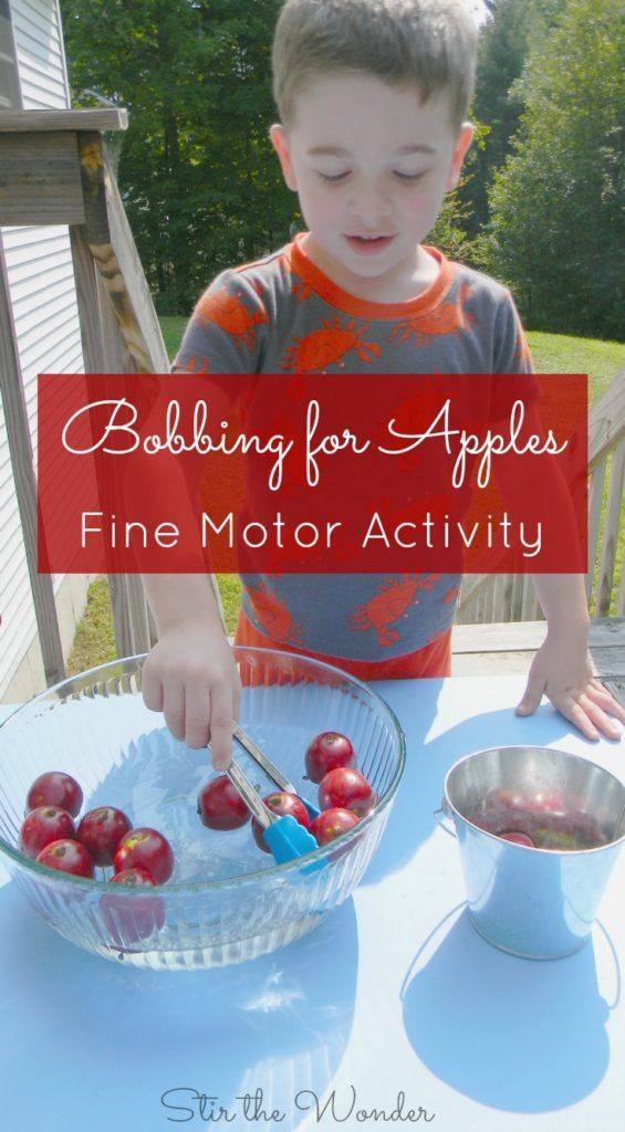 Looking for an apples fine motor activity for your kids? Bobbing for Apples is a…