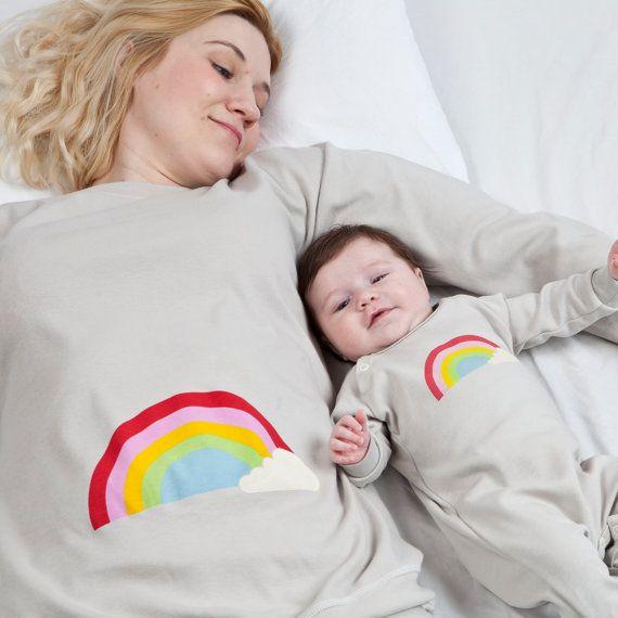 Matching set Mother and Baby organic cotton pyjamas by PJMamma