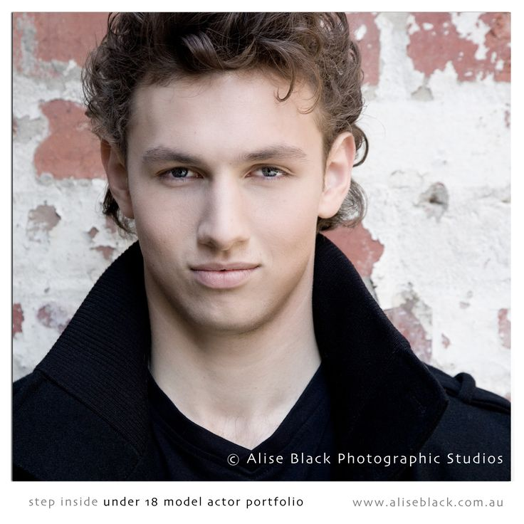 under 18 male model/actor portfolio with Alise Black and team in Melbourne.