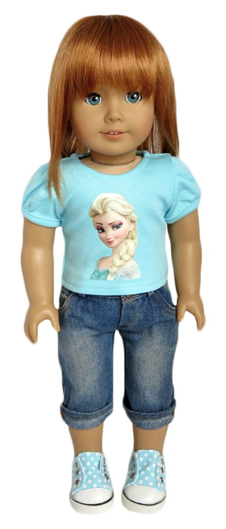 Silly monkey aqua elsa top and denim capri pants 16 99 http www