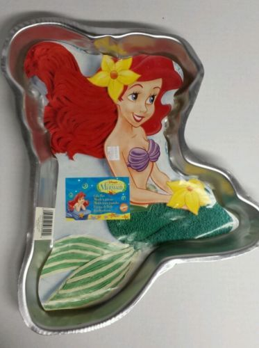 Disney The Little Mermaid cake pan by Wilton 1997 paper ...