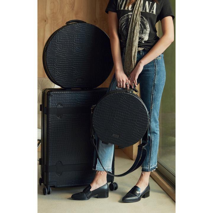 Baye Black Small Hat Box Calpak Travel Large Hats Hat Box Bags