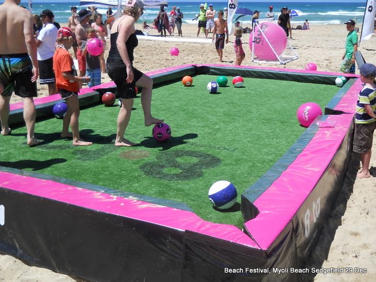 Life size pool tournament. Maybe could build outside structure with some 2x4 on concrete area with old bowling balls or other sort of ball? May need to have green fabric put down if using bowling balls. Tournament?