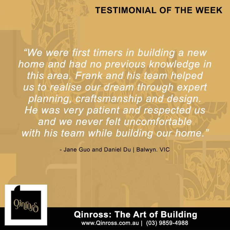 Hi everyone! Check out this testimonial from our client in Balwyn, Victoria!  #Boroondara #Banyule #Darebine #Whittlesea #Manningham #Nillumbik #Mornington #Nepean #Hastings #Gembrook #Monbulk #Evelyn #Macedon #YanYan #Eildon #Euroa #Bellarine #Lara #SouthBarwon #homebuilder #homedesign #homeconstruction #customhomes #homebuilding #homebuildercontractor #homedeveloper #buildingcontractor