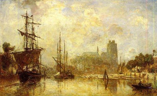 Johan Barthold Jungkind - The port of Dordrecht