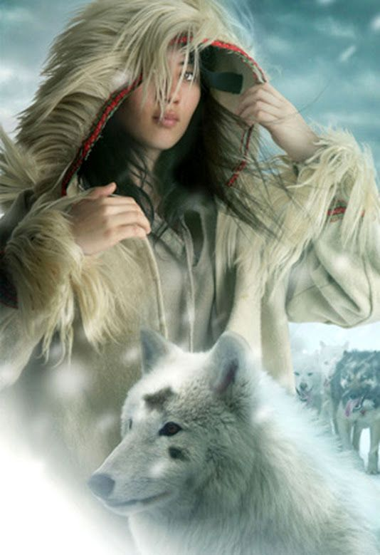 "It would be interesting to write a classic fairytale like Beauty and the Beast from the point of view of a woman from the snow lands. Perhaps the ""beast"" is a white wolf... #fantasy #wolf"