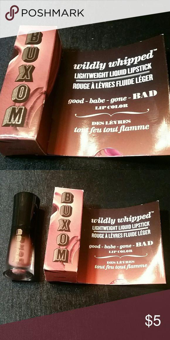 Buxom Liquid Lipstick-Centerfold Brand new, never used. Travel size in original packaging Buxom Makeup Lipstick