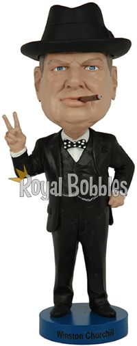 Sir Winston Leonard Spencer Churchill was a British politician known chiefly for his leadership of the United Kingdom during World War II. #Bobblehead #RoyalBobbles