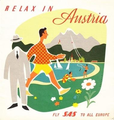 Fly SAS * Relax in Austria 1960s