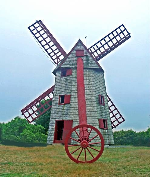 The Old Mill of the Nantucket Historical Association Is the oldest working wind powered grain mill in the country. It was built in 1746 by Nathan Wilbur, a Nantucket seaman, who had seen similar mills operating in Holland. The Old Mill was one of four mills that operated on a hill to the west of Nantucket Town, Massachusetts.