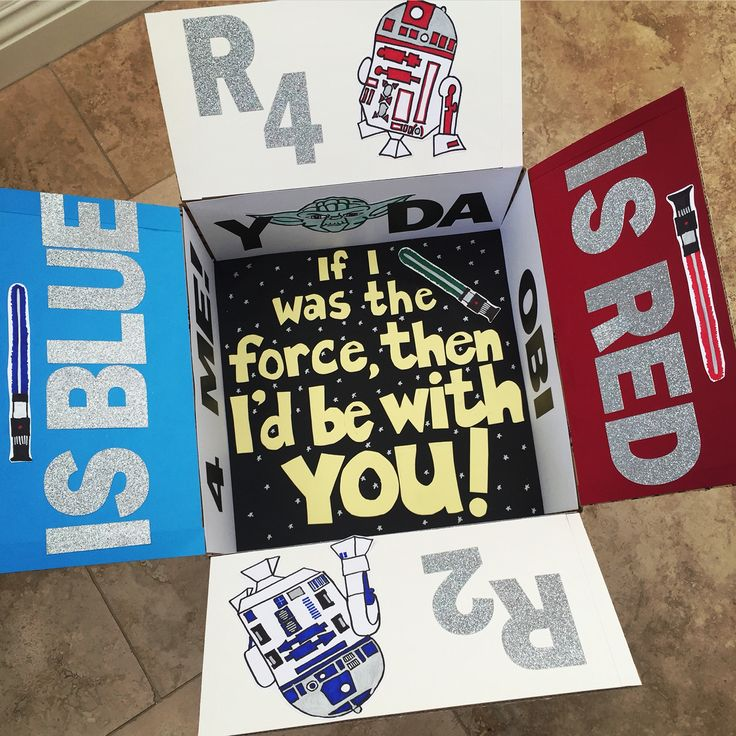 Star Wars care package for deployed soldier. Made by Emily Sexton