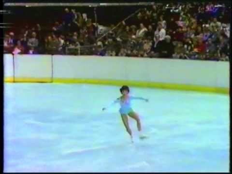 1984 Winter Olympics, showing among other things, Rosalyn Sumners skating figure no. 1 - Rocker; and Tiffany Chin skating Paragraph Double 3.
