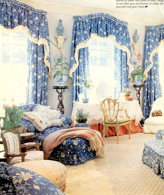 marvelous blue sky bedroom country styl | 155 best images about Mario Buatta on Pinterest | Sisters ...