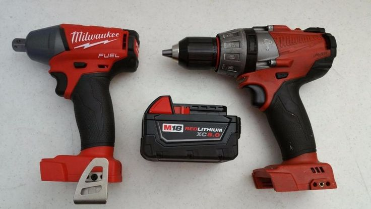 $195.95 Used Cordless Milwaukee Fuel Hammer Drill  & Impact Wrench 2755-20 18v Battery #Milwaukee