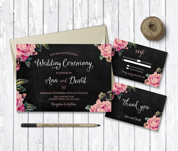 Are you preparing your #Wedding? Check how #Original  are these Printable Invitation Cards by #Tranquillina   #Croatia  Include #RSVP card and #ThankYou card From £9.00