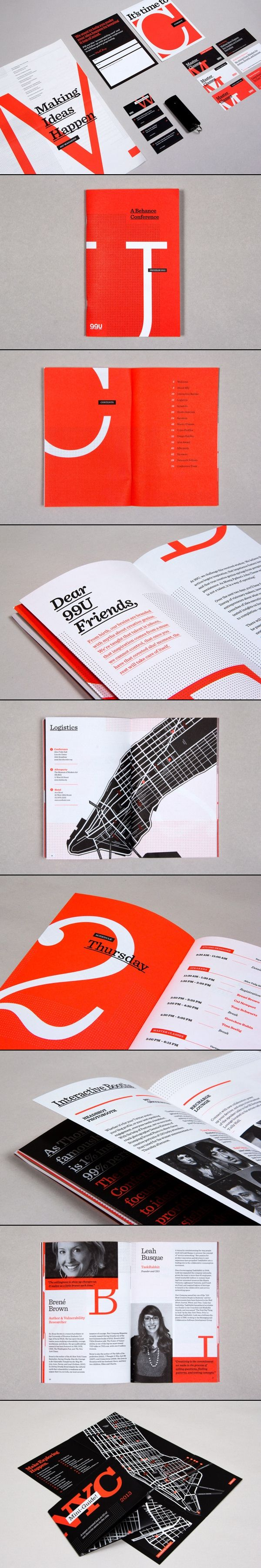 Conference branding on Behance
