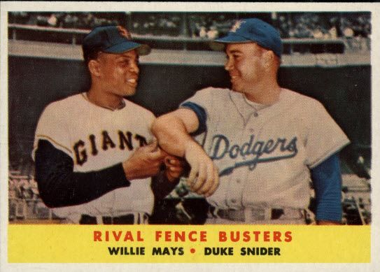 Willie Mays and Duke Snyder (Topps)