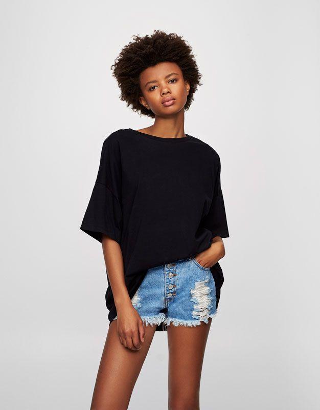 Pull&Bear - femme - vêtements - basiques - t-shirt basic col rond - 7,99 €