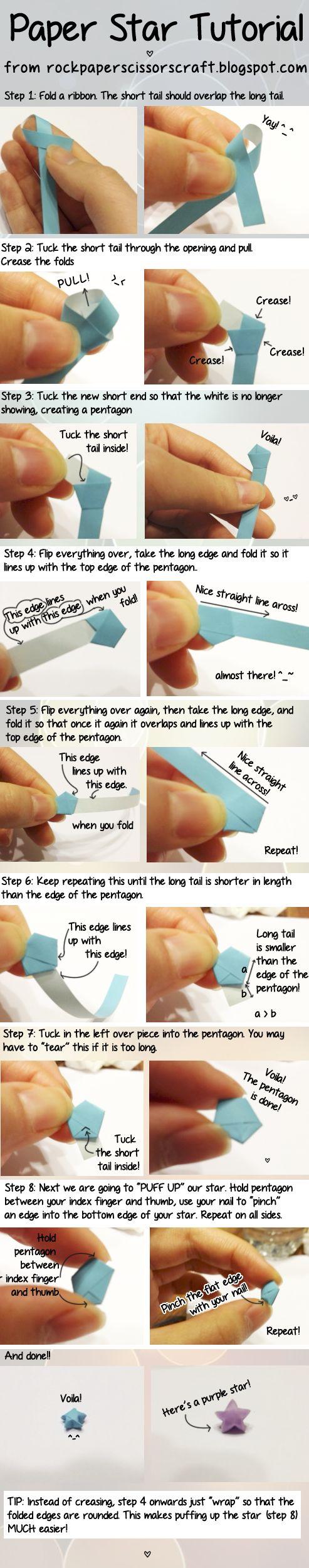 Comment faire de minuscules étoiles de papier.