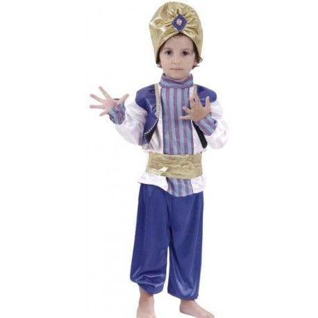 12.50€ - disfraz de sultan arabe en talla infantil para niños. Talla unica 95-105 cm