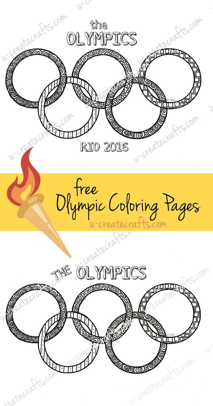 Free Olympic Ring Coloring Pages by U Create