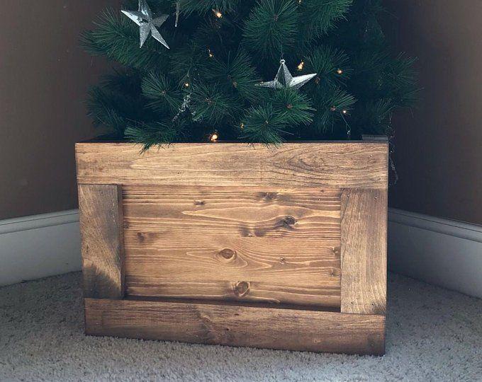 Folding Wood Christmas Tree Box Stand Wood Tree Skirt Etsy Christmas Tree Box Christmas Tree Box Stand Wood Christmas Tree